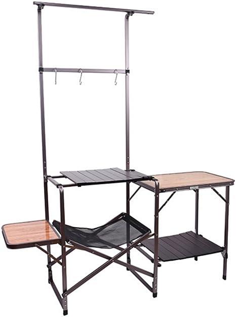 Gghy-camping tables Mesa Plegable de la Cocina móvil del ...