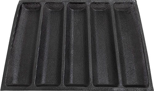 Amzchoice Silicone Non Stick Baking Liners Mat Bread Mold Bread Mould (5 Loaf, Black)