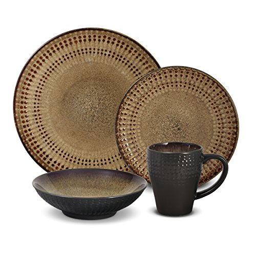 Pfaltzgraff Cambria 16-Piece Stoneware Dinnerware Set, Service for 4 (Dinnerware Set 16 Stoneware Piece)