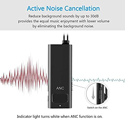 Active Noise Cancelling Bluetooth Headphones, GreenLaw Wireless Earphones In Ear Earbuds with Built-in Mic for Sports, Noise Reduction, AptX Hi-Fi Stereo, Secure Fit, 7.5 Hours Play Time-Black