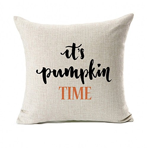 Pumpkin Time Throw Pillow Case