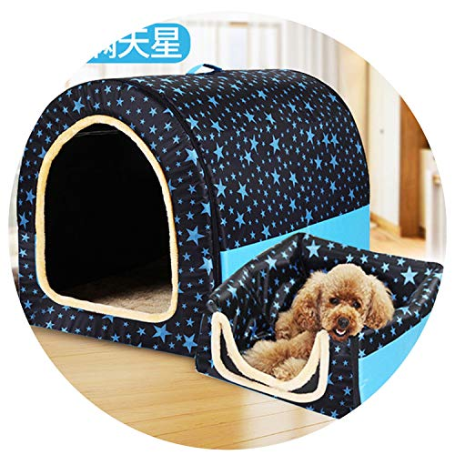 (sevenTimes Dog Beds for Small Medium Dogs Dog Crate Pet House Puppy Bed Outdoor Kennel Removable Cover Pets Blanket,A,M)