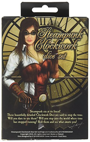 Q-Workshop Steampunk Clockwork Caramel & White Dice Set (7 Piece) 4