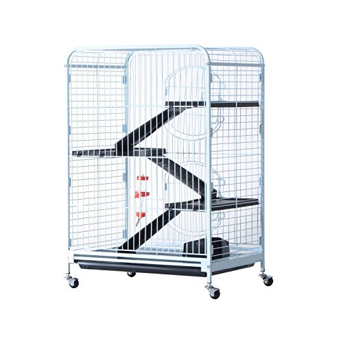 Pawhut 37'' 4 Level Indoor Small Animal Cage Hutch by PawHut