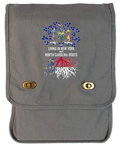 (Tenacitee Living In New York with North Carolina Roots Smoke Grey Canvas Field Bag )