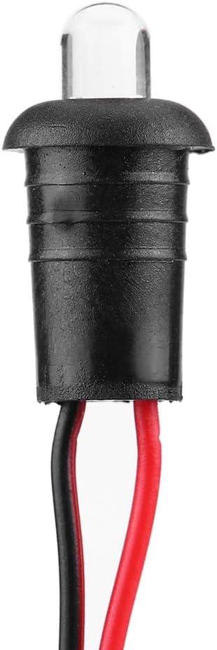 Voyant dalarme Clignotant 1 Paire DC 12V de Voiture LED Alternant Clignotant dalarme de Montage au Tableau de Bord
