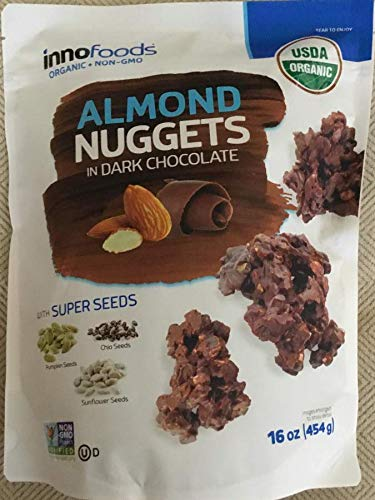 Innofoods Almond Nuggets in Dark Chocolate 16 oz. (Best Almonds In The World)