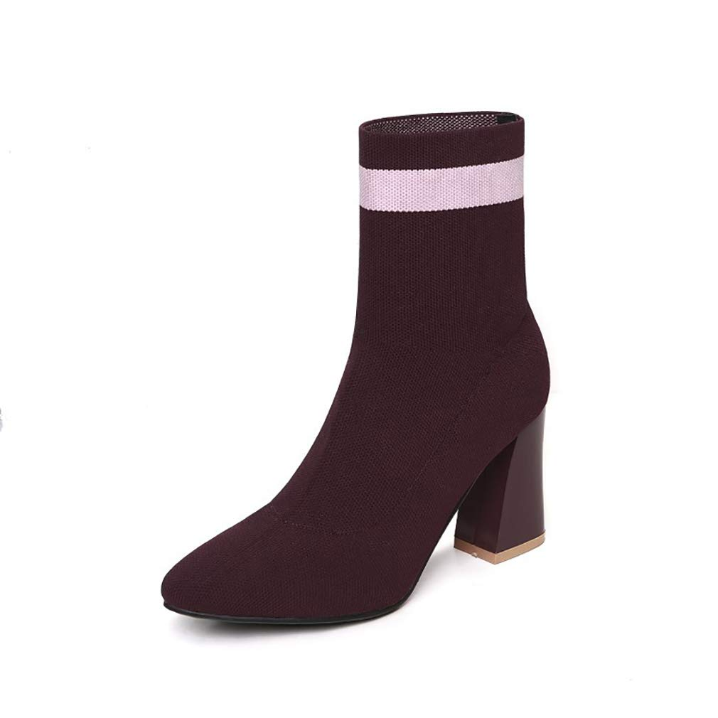 Calcetines de Mujer Zapatos Otoño/Invierno Botas elásticas de Moda ...