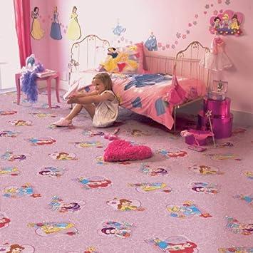 Teppichboden kinderzimmer mädchen  Kinder Teppichboden Disney Prinzessin rosa Auslegware Kinder ...