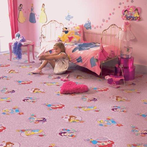 Kinder Teppichboden Disney Prinzessin rosa Auslegware Kinder ...