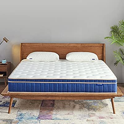 Sweetnight 8 Inch Twin Mattress - Individually Pocket Spring Hybrid Mattress in a Box, with CertiPUR-US Certified Gel Memory Foam Euro Pillow Top for Sleep Cool, Pressure Relief & Supportive,Full Size