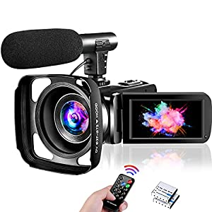 Flashandfocus.com 518Bryk1VAS._SS300_ Video Camera 1080P Full HD Camcorder 30FPS 24MP Vlogging Camera for YouTube 16X Digital Zoom IR Night Vision Webcam…