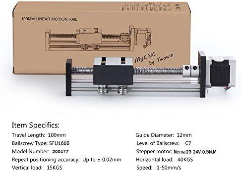 Cnc set 16x 1600mm linear liderazgo linear Guide Rail Stage 3d