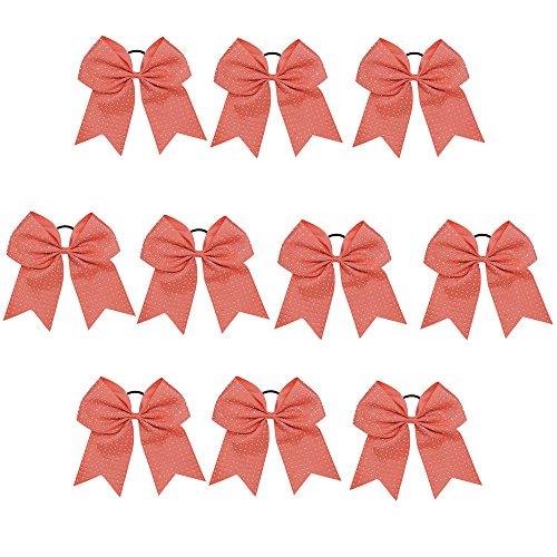 CN Jumbo Cheerleader Bow Rhinestone Cheer Bow for Cheerleading Girls