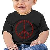 EIE8RE Toddler Kids Boys Girls T-Shirt Classic Peace Signs White Skull Anti-War Printing Short Sleeve