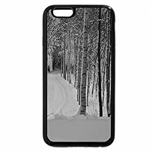 iPhone 6S Plus Case, iPhone 6 Plus Case (Black & White) - Winter path to nowhere