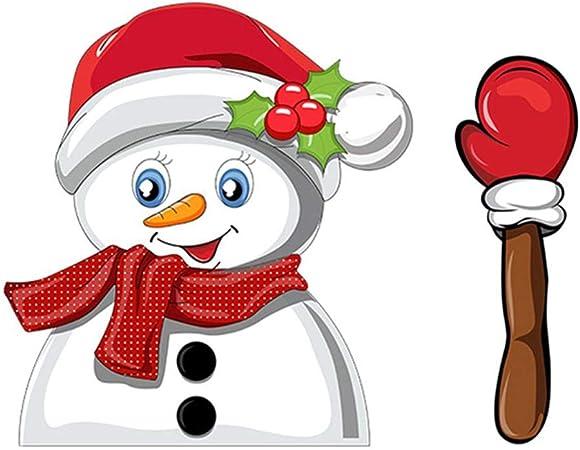Christmas Santa Claus//Snowman Waving Arm Wiper Decals Car Rear Sticker