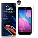 Huawei P9 Lite Mini Screen Protector, Bear Village® Tempered Glass Screen Protector [Lifetime Warranty], HD Screen Protector Glass for Huawei P9 Lite Mini - 2 PACK