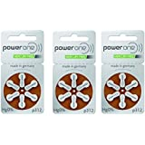 Hearing Aid Battery Powerone Size 312 60 Batteries No Mercury, 3 Pack