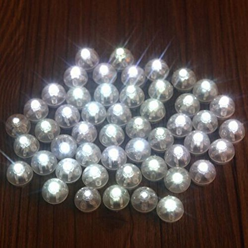 100pcs White LED Mini Round Ball Balloon Light, Long Standby Time Ball Lights for Paper Lantern Balloon Halloween Party Wedding Christmas Decoration -