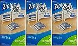 ziploc space saver vacuum bags - Ziploc Space Bag, Flat, Medium, 2 Count (3 Pack)