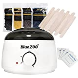 Bluezoo Waxing Kit Electric Wax Warmer with Hard Wax Beans Alcohol Prep Pads and Wax Applicator Sticks For Sale