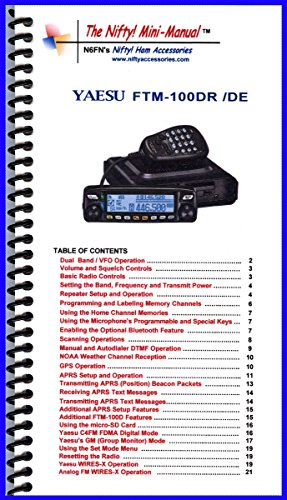Yaesu FTM-100DR / DE Mini-Manual by Nifty Accessories for sale  Delivered anywhere in USA