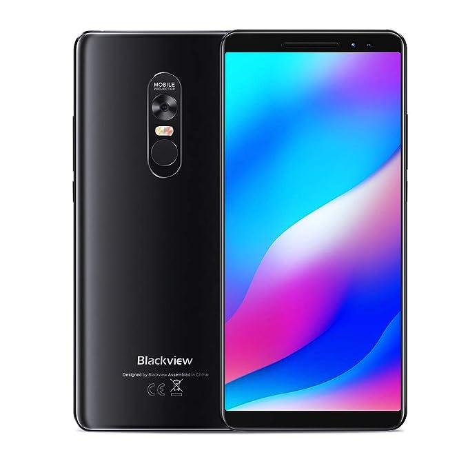 Blackview MAX 1 proyector Teléfono (Cine en casa) - 6 AMOLED FHD + Móvil Smartphone Libre (Android 8.1), Helio P23 Octa Core 4GB + 64GB, cámara ...