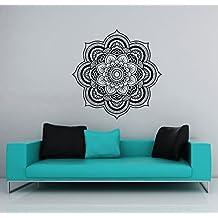 Wall Decals Lotus Flower Mandala Namaste Ornament Indian Geometric Moroccan Pattern Yoga Wall Vinyl Decal Stickers Bedroom Murals