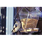 Apsects 155 Window Cafe Mount Bird Feeder Holds Variety of Seeds and Blends
