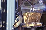 Aspects ASP155  Window Cafe Window Mount Bird Feeder Holds Variety of Seeds & Blends