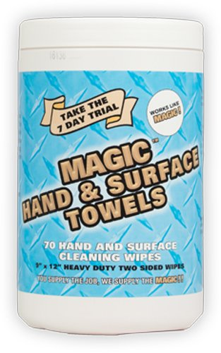 Zenex Magic Hand and Surface Towels - 70 Towels Per Canister - 1 Case (6 Canisters) by ZENEX International (Image #1)