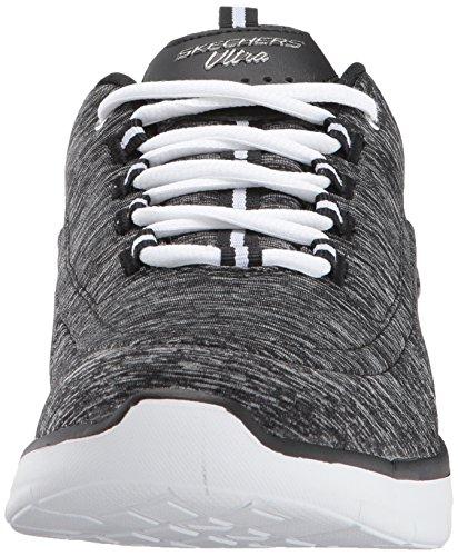 Skechers Sports Womens Synergi 2.0-headliner Bredt Mote Sneaker Svart / Hvit