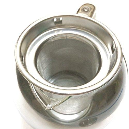Half-Moon Teapot and Tea Strainer Set & Lid Teapot Kettle Kitchen Dining 25.36 oz. by Pisana1979 (Image #8)
