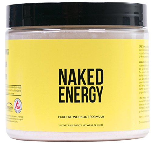 Naked Energy - All Natural Pre Workout Powder for Men and Women, Vegan Friendly, Unflavored, No Added Sweeteners, Colors or Flavors - 50 Servings