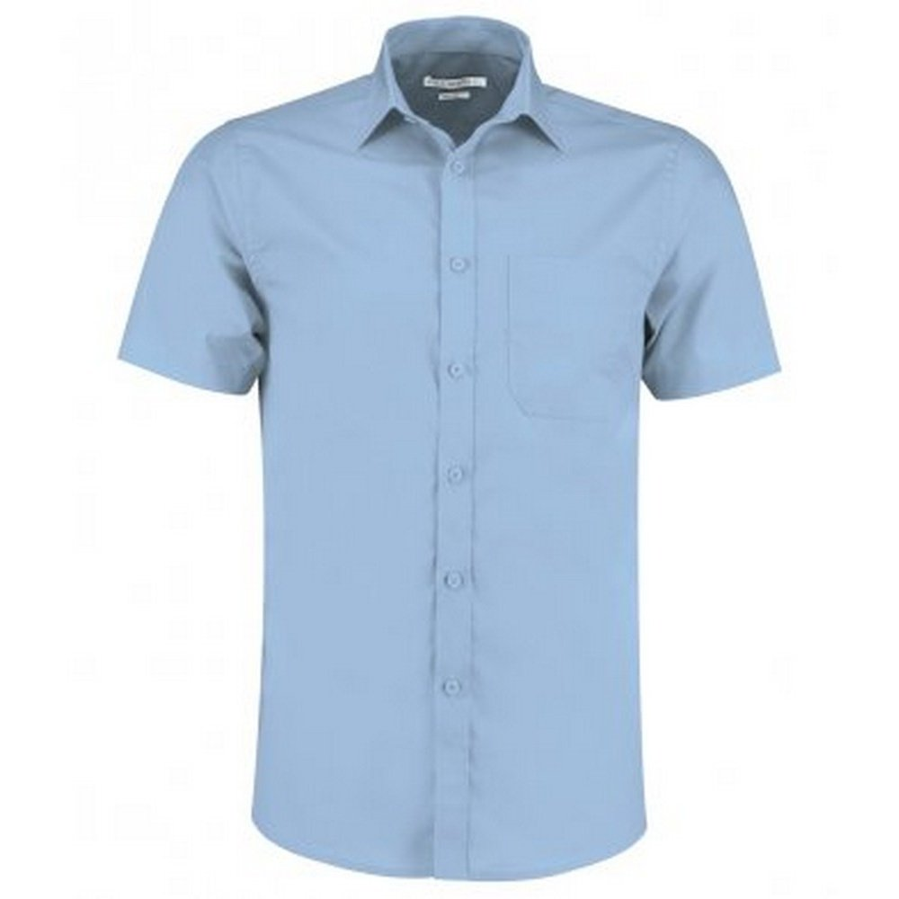 KUSTOM KIT Mens Short Sleeve Tailored Poplin Shirt