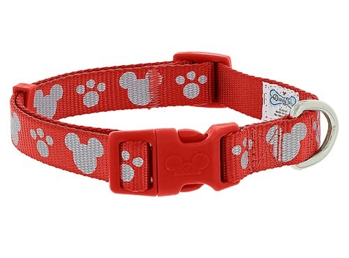 Reflective Collar Mice - Disney Parks - Tails - Mickey Mouse Reflective Dog Collar - Red - Small