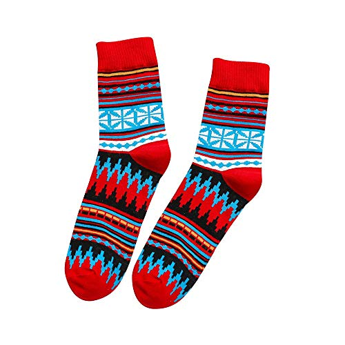 Realdo Mens Cotton Socks,Men's Fashion Multi-Color Medium Stockings Breathable Short Socks