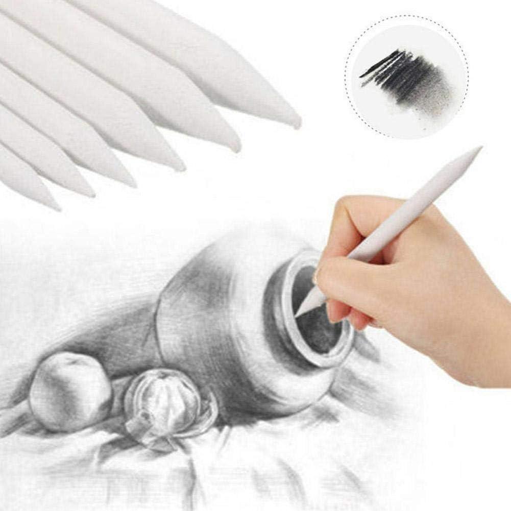 8 PCS Blending Smudge Tortillon Stump Sketch Paper Wiper for Student Artist Charcoal Sketch Drawing Tools