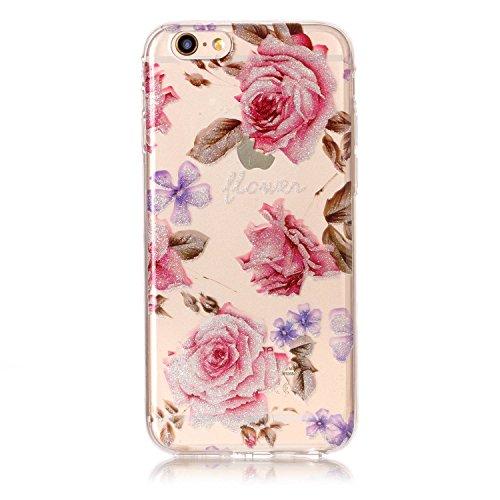 """Hülle iPhone 6 / 6S , LH Pfingstrose Blumen TPU Weich Muschel Tasche Schutzhülle Silikon Handyhülle Schale Cover Case Gehäuse für Apple iPhone 6 / 6S 4.7"""""""
