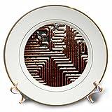 3dRose TDSwhite – Patterns Designs - High Tech Design - 8 inch Porcelain Plate (cp_281825_1)