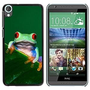LASTONE PHONE CASE / Carcasa Funda Prima Delgada SLIM Casa Carcasa Funda Case Bandera Cover Armor Shell para HTC Desire 820 / Cool Happy Tree Frog