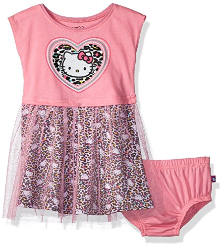 Hello Kitty Baby Girls Embellished Tutu Dress, Light Pink, 12M