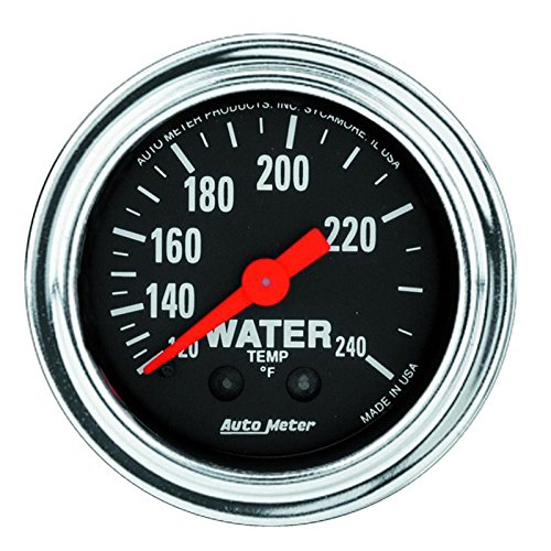 Autometer 2433 2'' WATER TEMP, 120-240`F 12' TUBING, MECH by Auto Meter