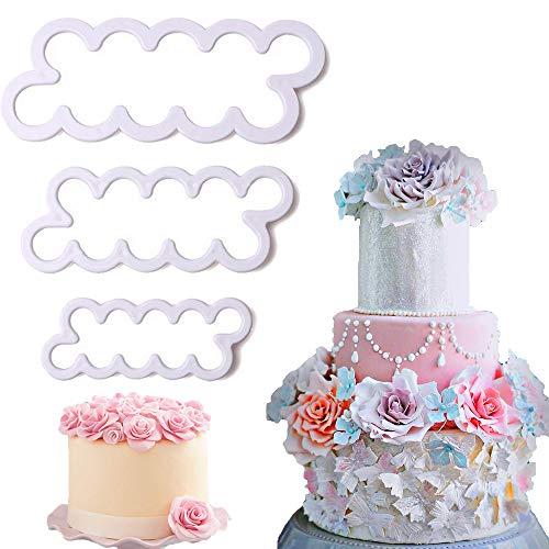 Palker Sky The Easiest Rose Ever Small Cutter Set of 3,Cake Decorating Gumpaste -