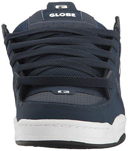 Globe  Fusion,  Herren Sneaker Low-Tops , blau - marineblau / rot - Größe: 42,5 EU