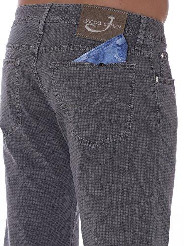 Jacob Cohen Homme PW688604915 Gris Coton Pantalon