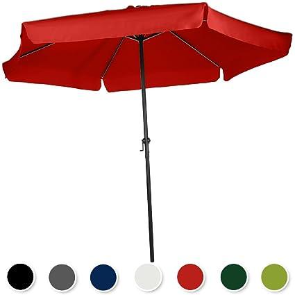 Miadomodo - Sombrilla de poliéster para jardín, terraza o playa con ...