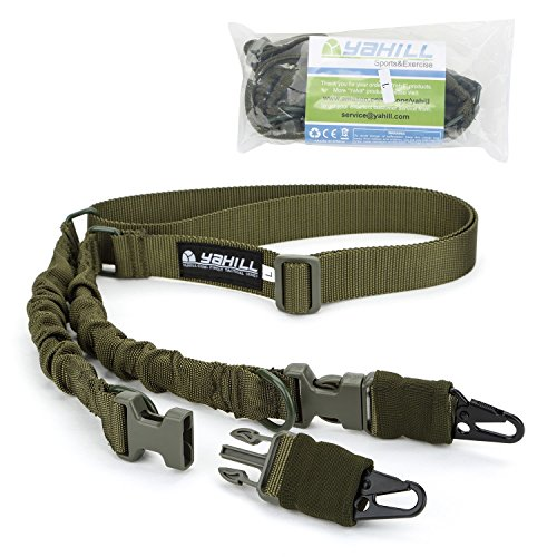 Yahill(TM) 2 Point Rifle Gun Sling Adjustable Strap Cord for Outdoor Sports, Hunting