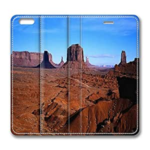 iPhone 6 Leather Case, Personalized Protective Flip Case Cover Desert Canyon for New iPhone 6